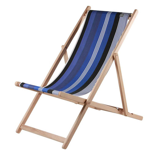 Holz-Liegestuhl aus dem Baskenland