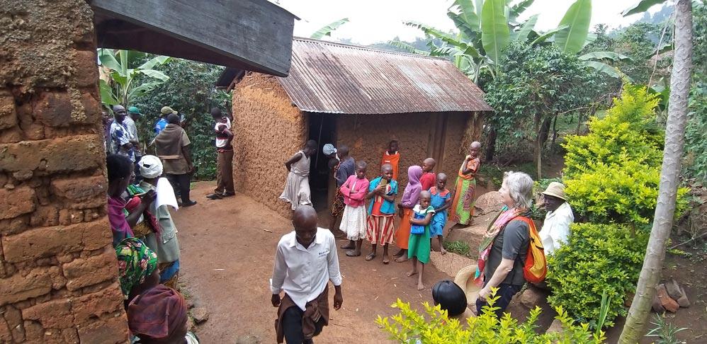 Typisches Koch-Häuschen, getrennt vom Wohnhaus; Ruwenzori-Gebirge, Uganda