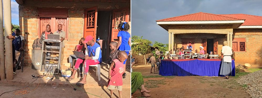 Ausstattung für Feiern, von der Kooperative angeschafft mit der Fairtrade-Prämie, zum Verleihen in der Region; Mount Elgon, Uganda