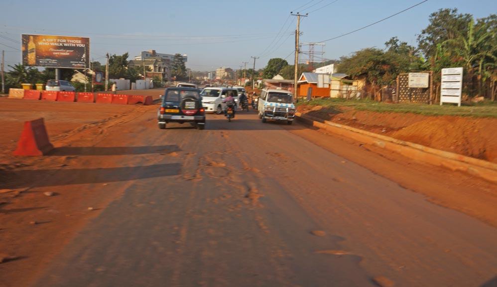Hauptverkehrsstraße in Uganda