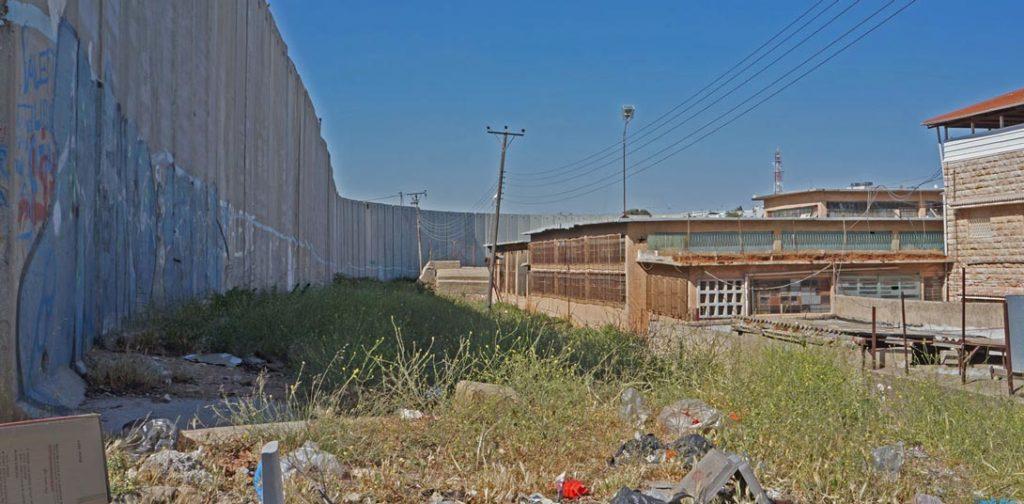 Mauer an der Grenze Israel-Westjordanland